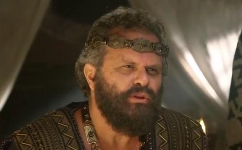 Abimeleque fala com Abraão no capítulo desra terça (8) – Foto: Reprodução / R7