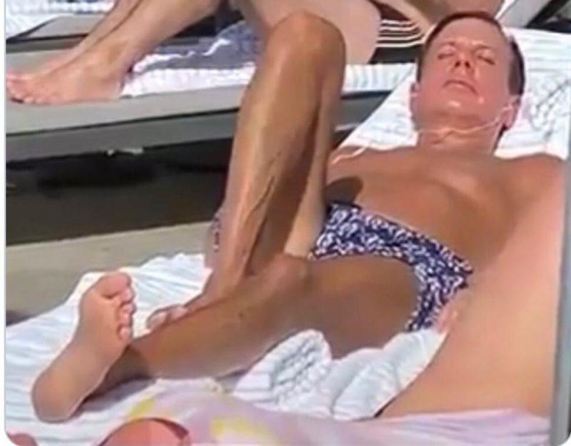 João Doria toma sol em hotel sem máscara e em meio a turistas – Foto: Reprodução/ Twitter