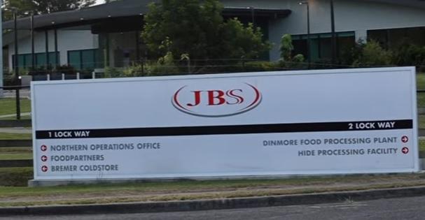Fachada da empresa JBS nos Estados Unidos – Foto: Reprodução/ Youtube