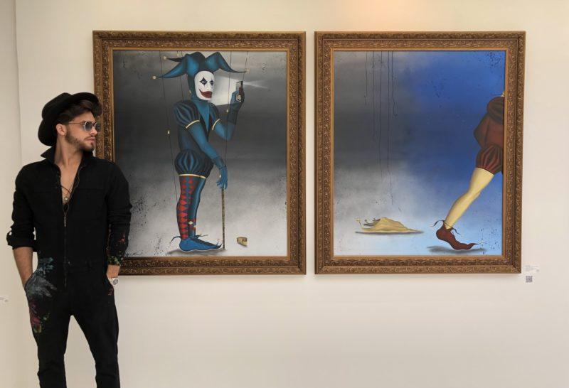 """Sami Fawakhiri e o díptico """"Uma Nova Chance"""", que apresenta em São Paulo – Foto: Divulgação/ND"""