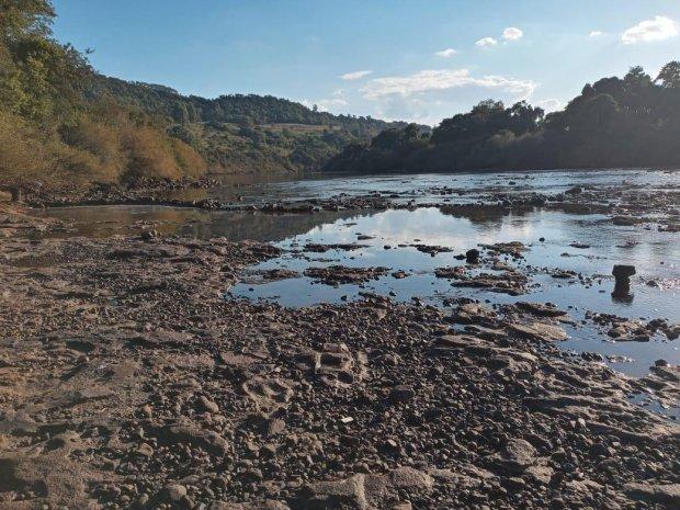 Estiagem no Estado se mantém com nove municípios em situação crítica – Foto: Comitê de Bacia Hidrográfica de Chapecó/Divulgação/ND