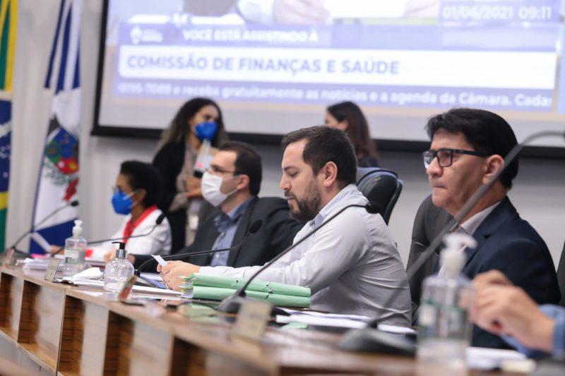 Comissões de Finanças e de Saúde da Câmara de Vereadores de Joinville