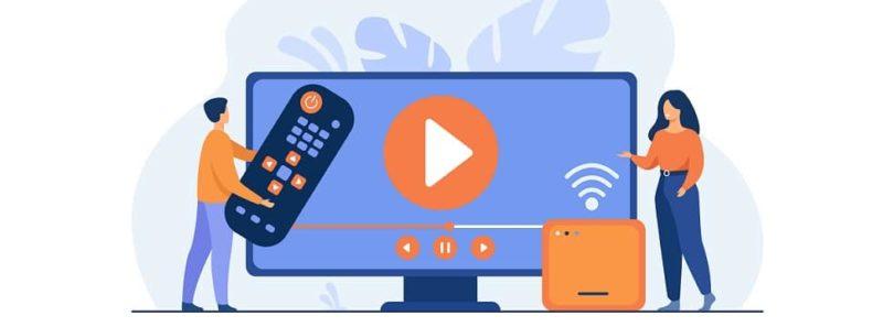Qual o melhor streaming media player: Chromecast, Fire TV Stick ou Roku? - Fundo vetor criado por pch.vector - br.freepik.com