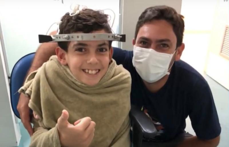 Segunda cirurgia é bem sucedida e menino Tiaroni deve receber alta nos próximos dias – Foto: Reprodução/NDTV RecordTV