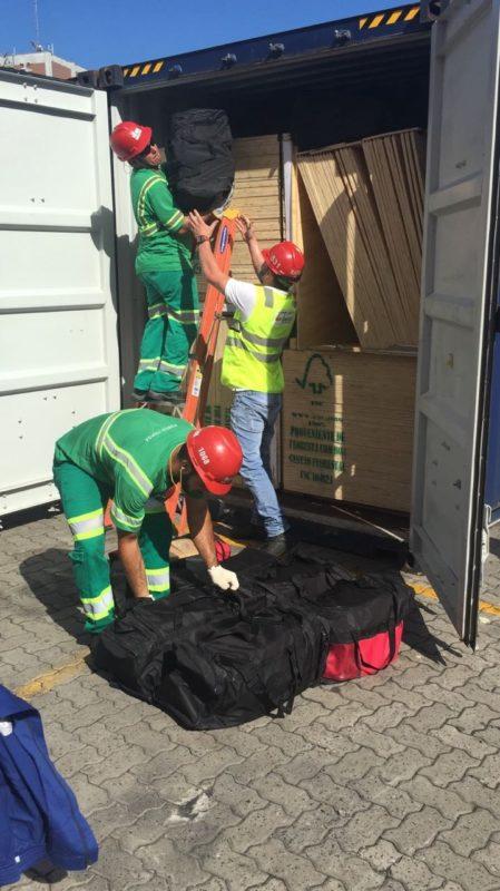 Drogas eram inseridas em contêineres e enviadas para a Europa por meio de navios – Foto: Polícia Federal/Divulgação