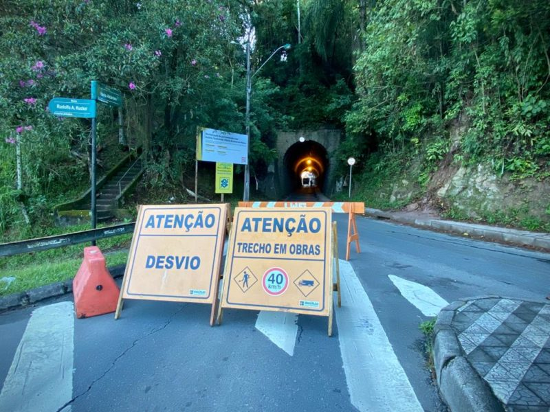Túnel da Ponte de Ferro será fechado nesta sexta (11) e sábado (12) em Blumenau – Foto: Giulia Venutti/NDTV
