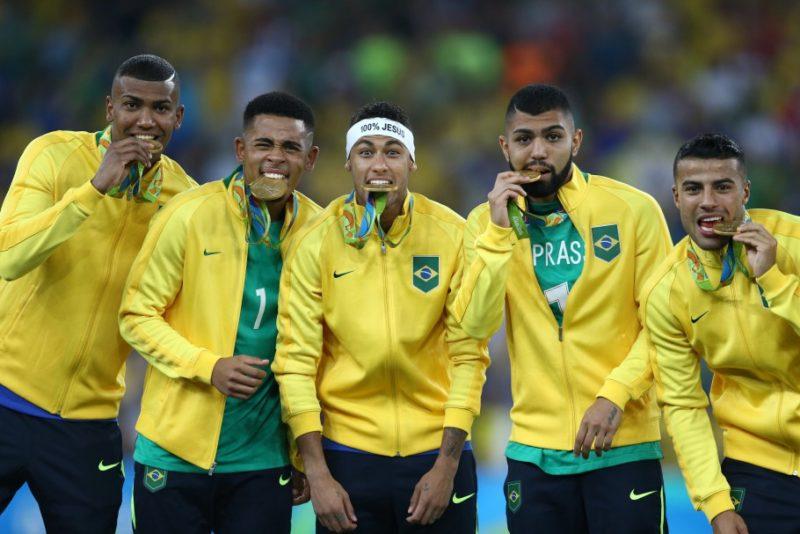 Brasil campeão olímpico em 2016 sobre a Alemanha; título histórico no Rio de Janeiro 2016 – Foto: Lucas Figueiredo/CBF/divulgação