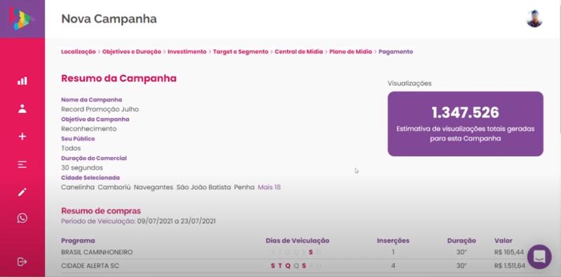 Confirme as informações e realize o pagamento – Foto: Divulgação/Cimtia Ads