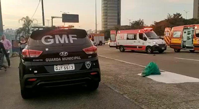 Acidente ocorreu na avenida Gustavo Richard – Foto: GMF/Divulgação/ND