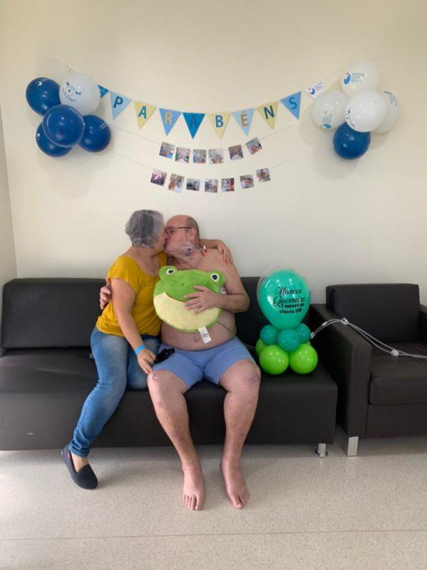 Apoio da esposa foi fundamental para a recuperação – Foto: Arquivo pessoal