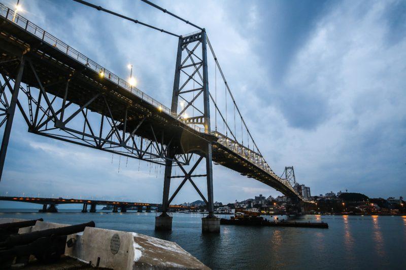 Infraestrutura de SC vai lançar edital de manutenção da Ponte Hercílio Luz– Foto: Anderson Coelho/Arquivo/ND