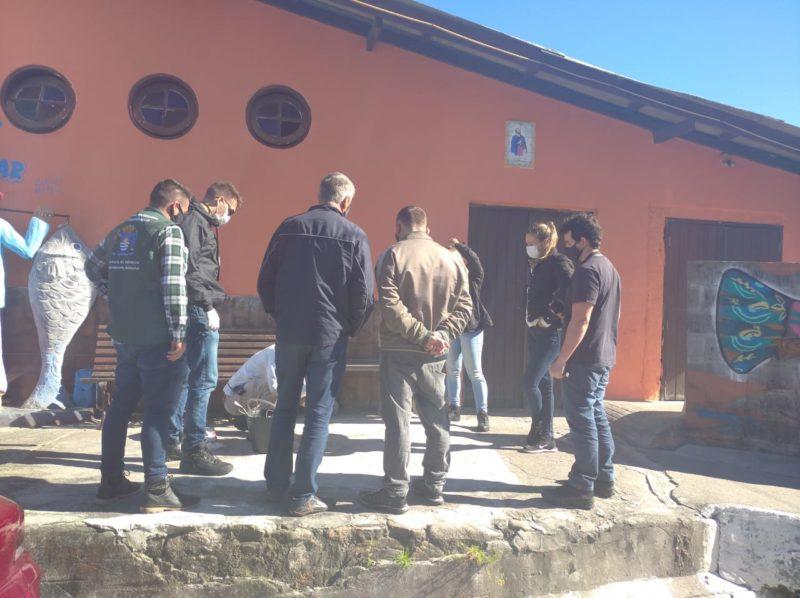 Esgoto irregular é confirmado no Bar do Arante, por meio de ação da Polícia Civil com a Blitz Sanear – Foto: Djone Joench/Floripa Se Liga Na Rede/Reprodução/ND