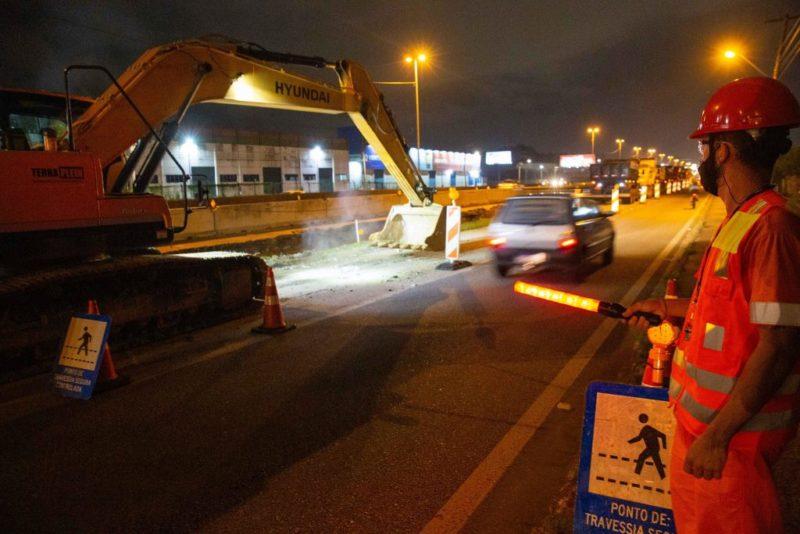 Obras interditam a BR-101 em São José entre sábado e domingo – Foto: Arteris Litoral Sul/Divulgação