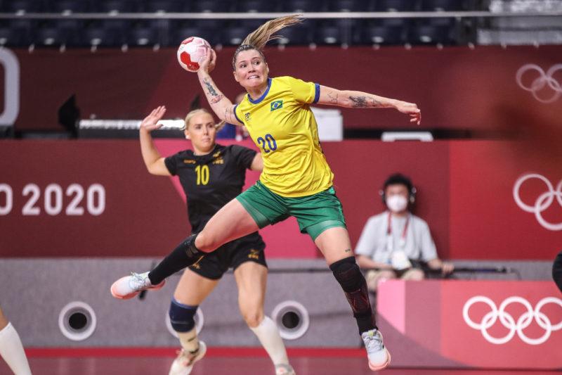 Brasil perde a segunda no handebol feminino – Foto: Gaspar Nóbrega/COB