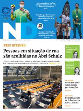 Capa da última edição - ND Digital Joinville