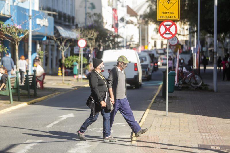 Circulação de pessoas no Centro de Joinville