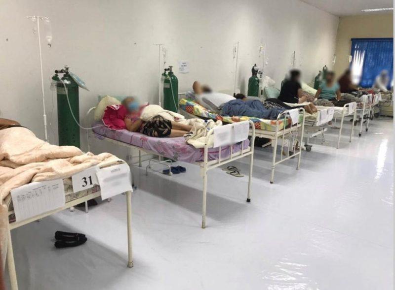 Centro de Eventos virou um hospital de campanha – Foto: MPF/Arquivo/ND