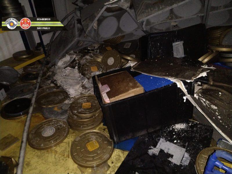 Incêndio no galpão da Cinemateca deixa rastro de estragos históricos para trás – Foto: Fotos Públicas/Reprodução/ND