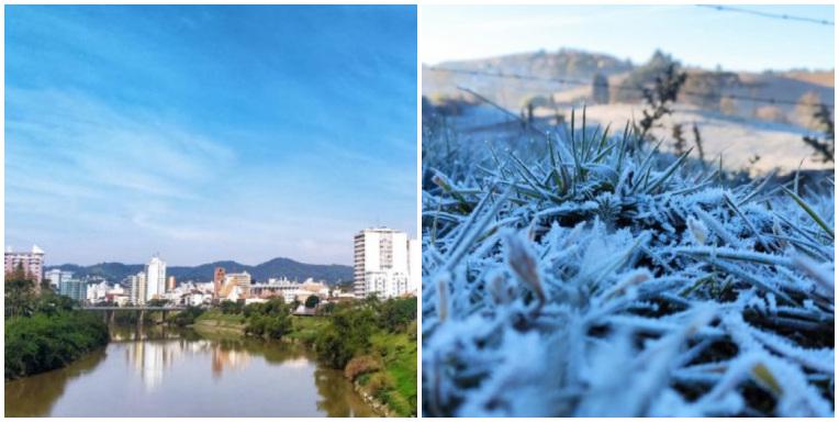 Contraste de temperaturas causa temporais em Santa Catarina – Foto: Wilson Gutz/NDTV/Wagner Urbano/Divulgação/ND