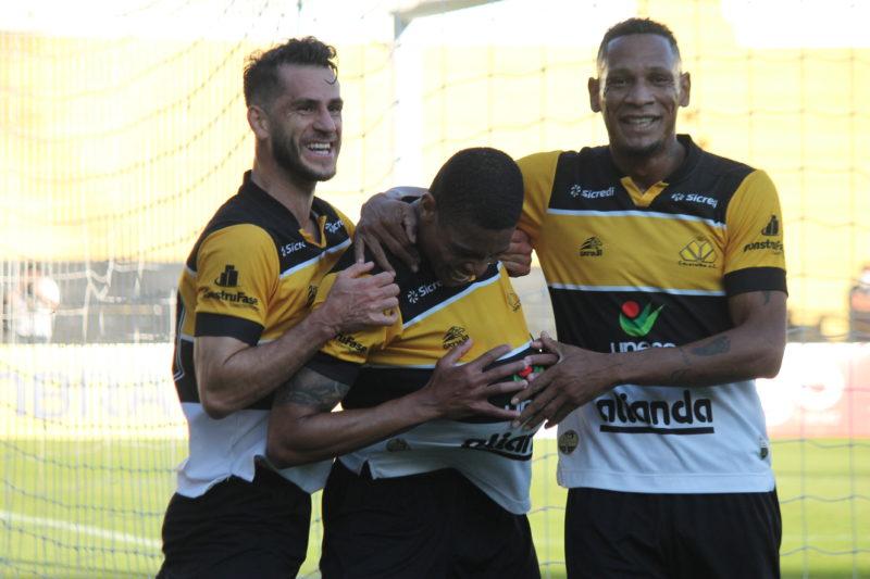 Hygor marcou o gol da vitória do Criciúma ainda no primeiro tempo da partida válida pela Série C do Brasileiro – Foto: Celso da Luz/CriciúmaEC/ND