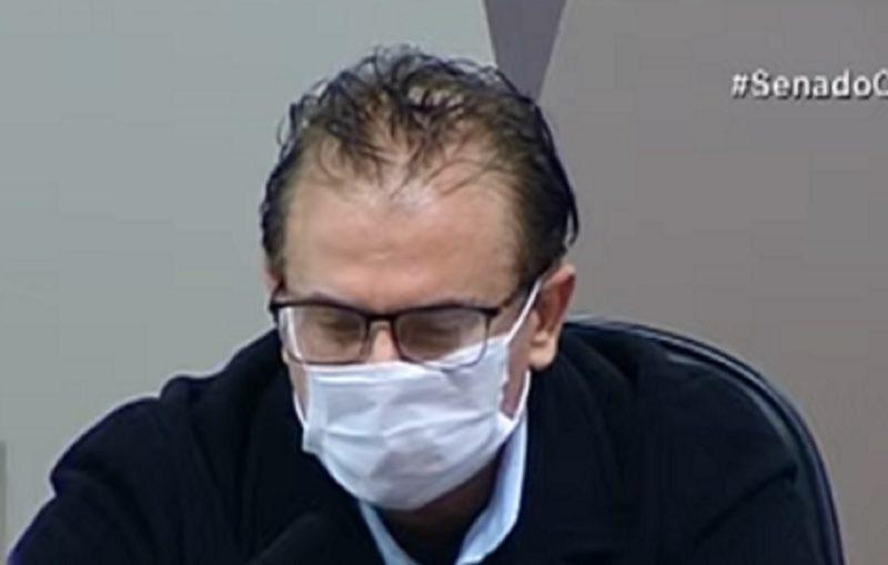Cristiano Carvalho depõe na CPI da Covid nesta quinta (15) – Foto: Reprodução/Youtube