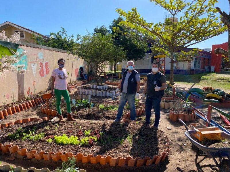 hortas comunitárias representam uma importante estratégia de sensibilização sobre a natureza. – Foto: PMF/Divulgação/ND