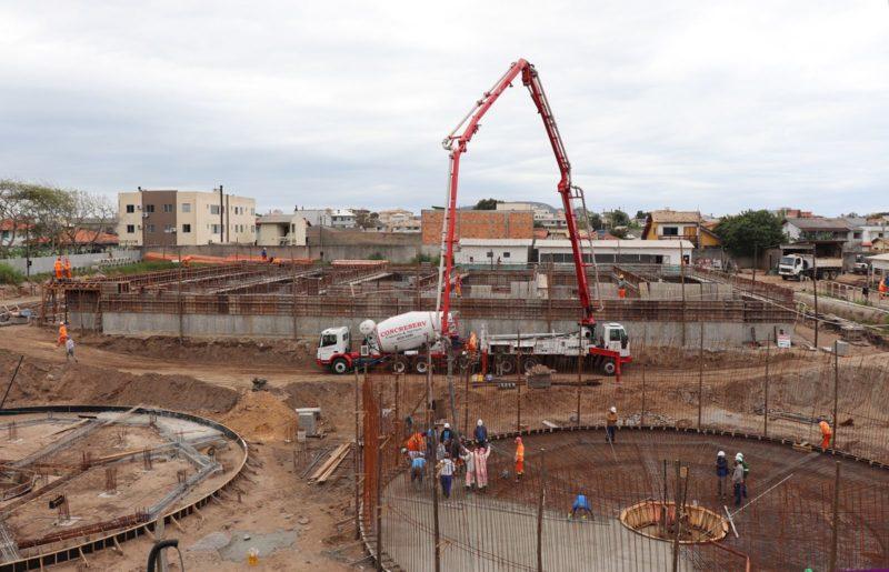 Obras do Sistema de Esgoto dos Ingleses, em Florianópolis, serão retomadas – Foto: Divulgação/Acervo Casan/ND
