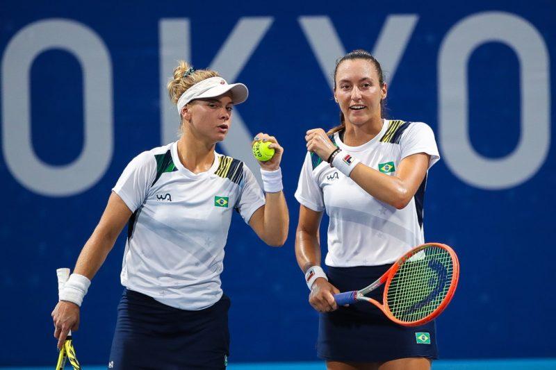 Laura Pigossi e Luisa Stefani estão nas semifinais do torneio de duplas! – Foto: Gaspar Nóbrega/COB