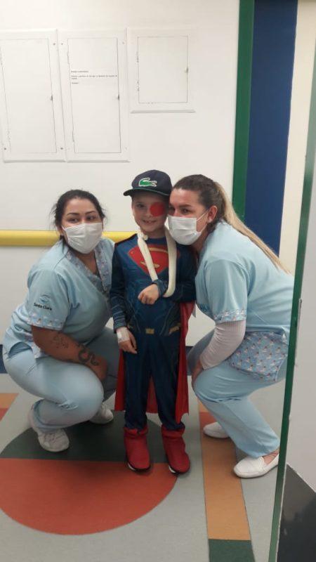Enzo ficou pouco mais de 10 dias na UTI do Hospital Pequeno Anjo em Itajaí – Foto: Arquivo Pessoal/ND