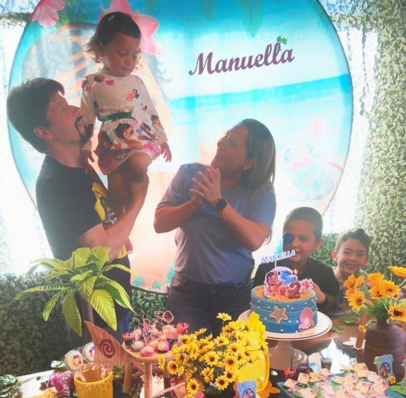 Menino que caiu de Gorila do Beto Carrero comemora aniversário de 2 anos da irmã mais nova – Foto: Arquivo Pessoal/Divulgação