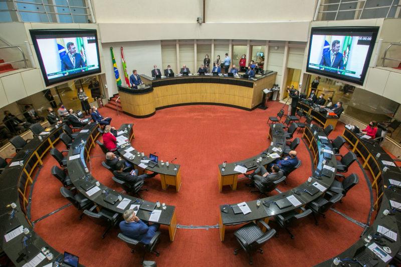 Plenário da Alesc durante a realização da audiência pública da reforma da Previdência – Foto: Rodolfo Espínola / Agência AL / Divulgação / ND