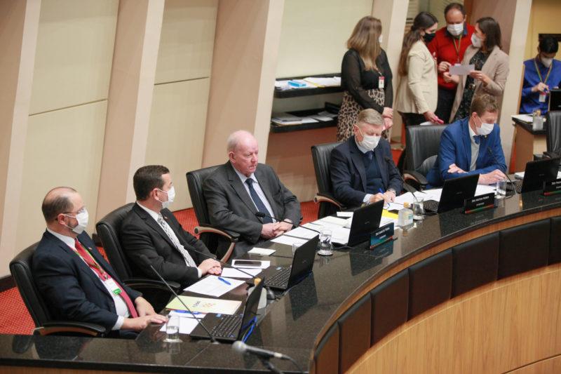 Audiência pública para discutir a reforma da Previdência foi realizada nesta segunda-feira (19) – Foto: Vicente Schmitt/ Agência AL/ ND