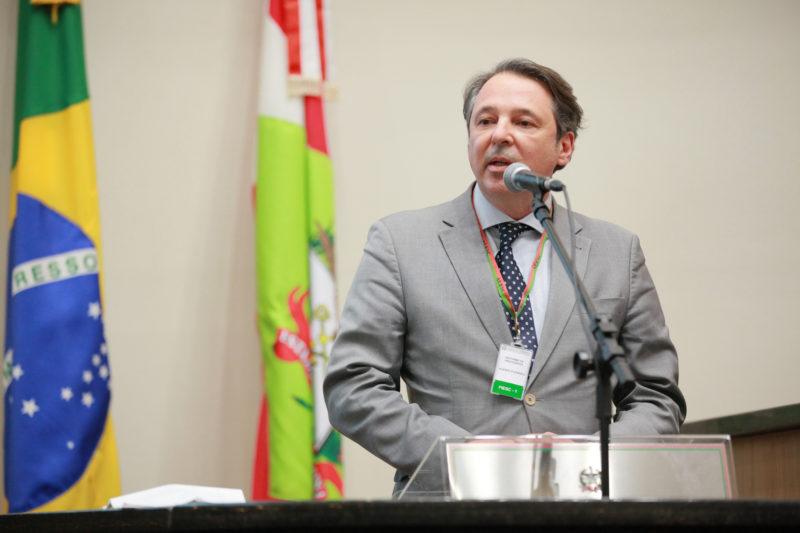 Diretor Institucional e Jurídico da Fiesc, Carlos José Kurtz, representou a entidade na audiência – Foto: Vicente Schmitt/Agência AL/ND