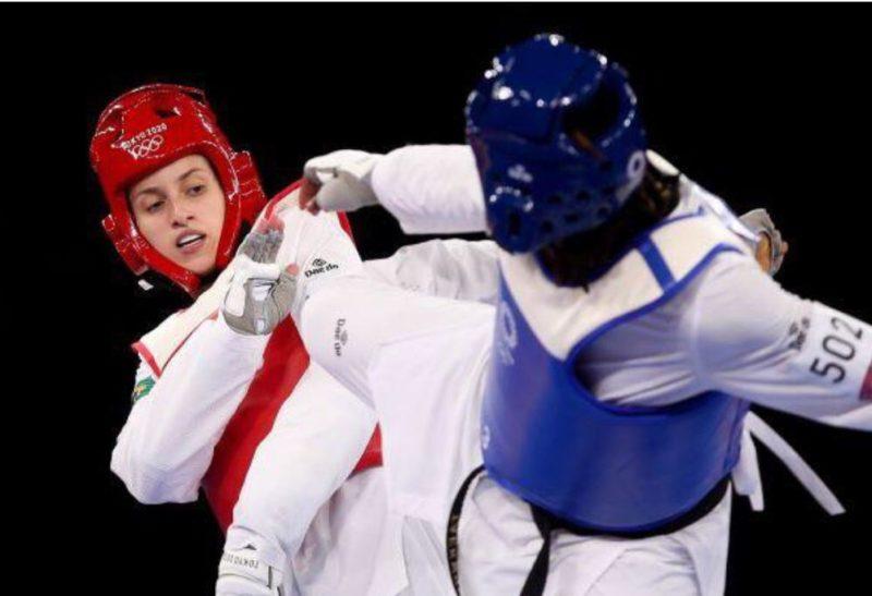Milena Titoneli perdeu para marfinense a disputa do bronze no Taekwondo nesta segunda (26) – Foto: Gaspar Nóbrega/COB