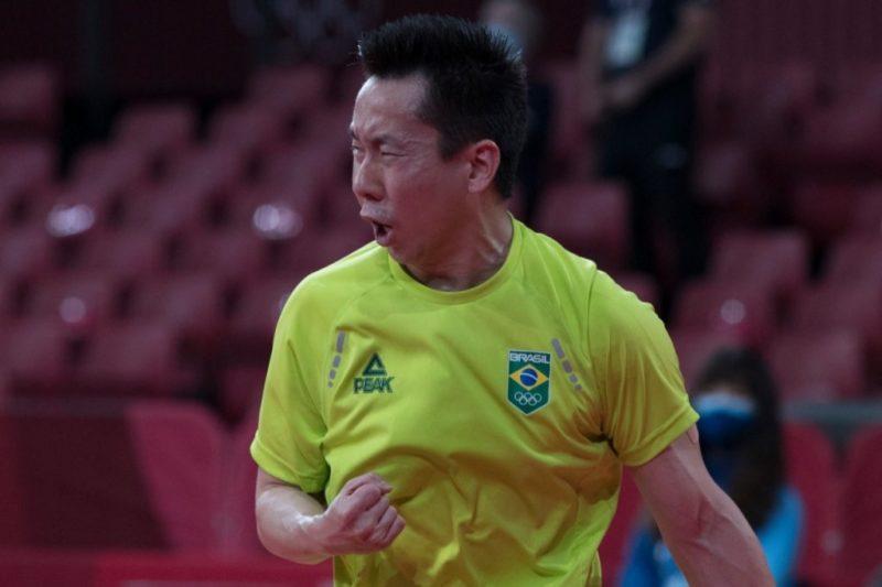 Gustavo Tsuboi parou nas oitavas de final dos Jogos Olímpicos de Tóquio – Foto: Júlio César Guimarães/COB