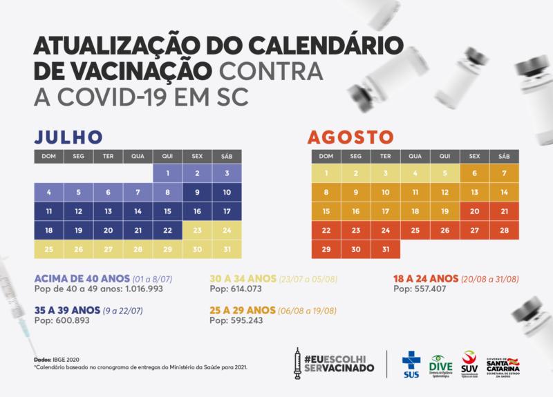 Calendário foi divulgado no dia 1º de julho – Foto: Divulgação/Secom/ND