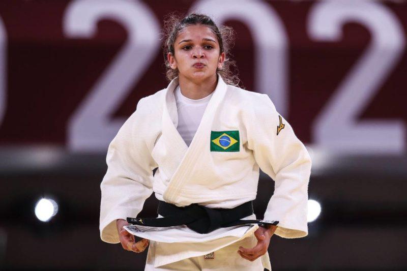 Larissa Pimenta está eliminada no judô – Foto: Gaspar Nóbrega/COB
