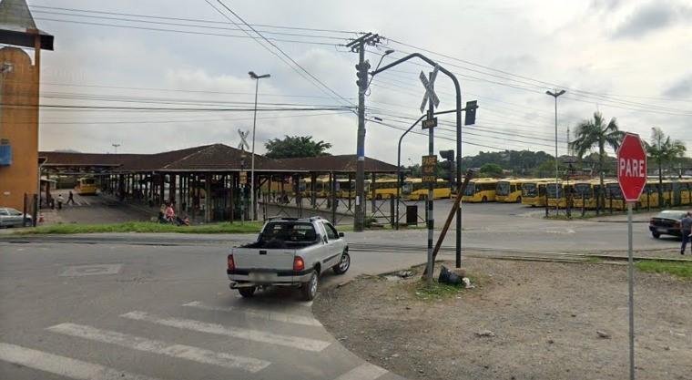 trilhos de trem em Joinville