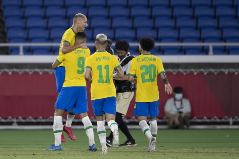 Brasil briga pelo bicampeonato olímpico. – Foto: Lucas Figueiredo/CBF/ND
