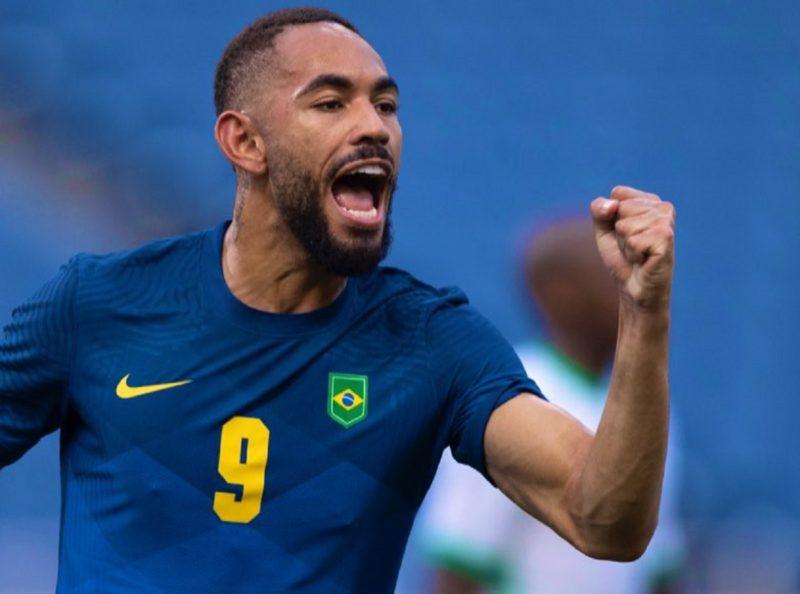 Matheus Cunha marcou um gol na vitória diante da Arábia Saudita nesta quarta (28) – Foto: Lucas Figueiredo/ CBF