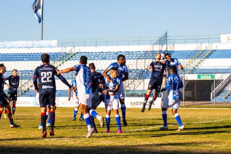 Marcílio Dias ficou no empate sem gols contra o Esportivo – Foto: Bruno Golembiewski/CNMD