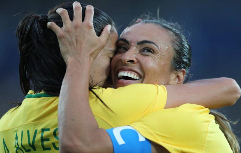 Marta marca duas vezes na vitória da seleção – Foto: COB/Divulgação