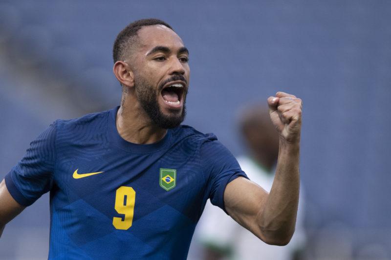 Matheus Cunha marcou seu primeiro gol nas Olimpíadas – Foto: Lucas Figueiredo/CBF