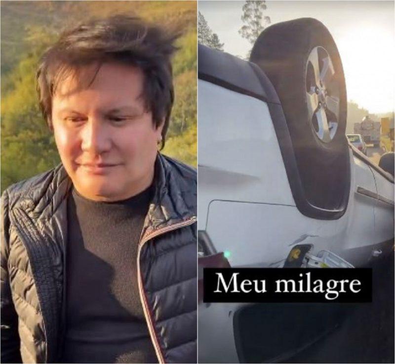 Cantor Giovani se envolveu em acidente neste sábado (31) – Foto: Montagem/Reprodução/Instagram