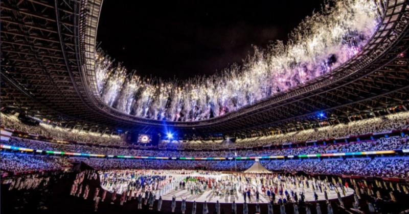 O Estádio Olímpico foi palco de um grande desfile nesta sexta-feira – Foto: Miriam Jeske/COB/Divulgação/ND