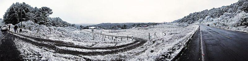 Neve assola municípios catarinenses – Foto: Reprodução/ND