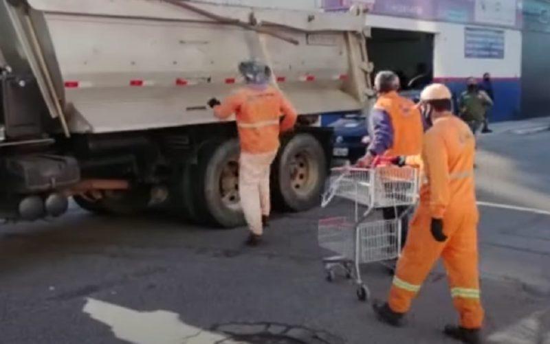 Operação fiscalizou carrinhos de reciclagem em São José – Foto: Reprodução/NDTV RecordTV