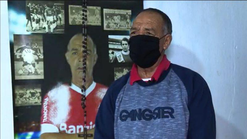 Pai de Diego, o ex-jogador Edson Scott não possui esperanças de encontrar o filho com vida em Laguna – Foto: Reprodução/NDTV