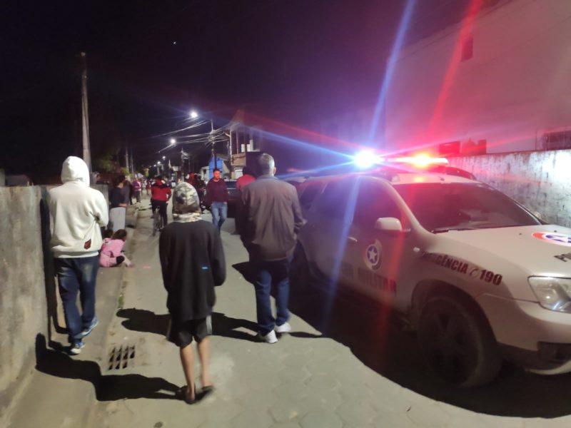 Homem foi assassinado a tiros em Palhoça – Foto: PMSC/Divulgação/ND