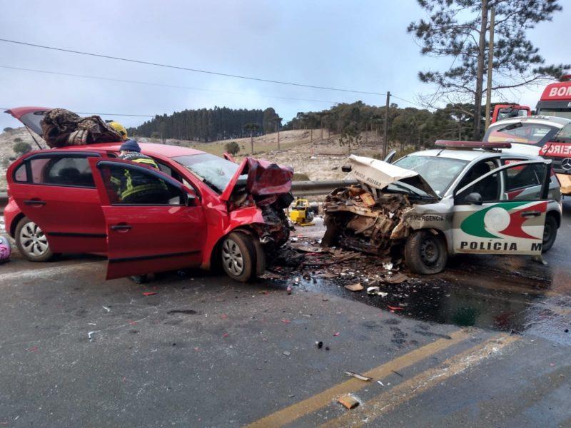 Sargento da Polícia Militar morreu em um grave acidente na manhã desta quinta-feira na SC-390 – Foto: PMRV/Divulgação/ND
